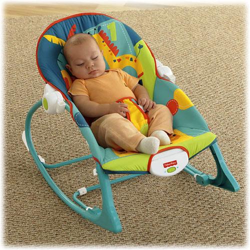 Fisher Price детское кресло-качалка САФАРИ (ЗООПАРК) с музыкой и вибрацией (от 0 до 18 кг)