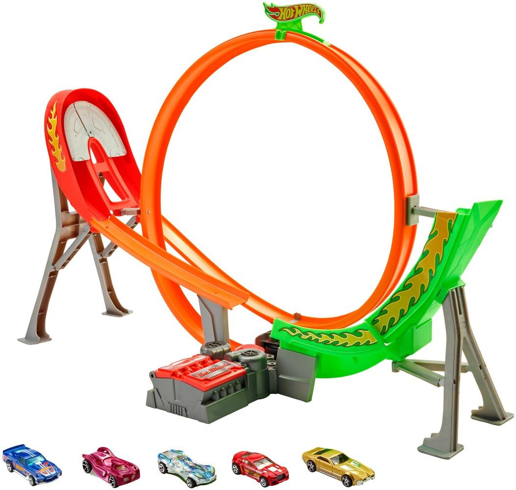 """Трек """"Безумный форсаж"""" с 5 машинками Hot Wheels"""