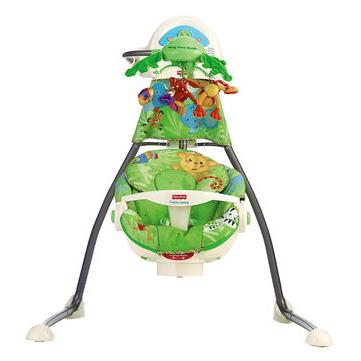 Укачивающий центр с мобилем (колыбель-качели) «Джунгли» Fisher-Price Rainforest