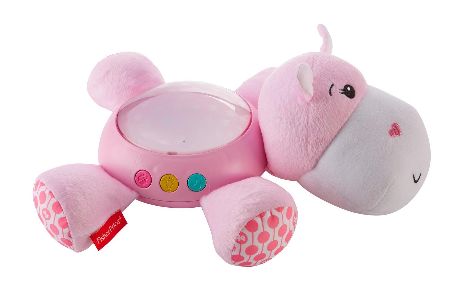 """Музыкальный ночник-проектор """"Розовый гиппопотам"""" Fisher-Price"""