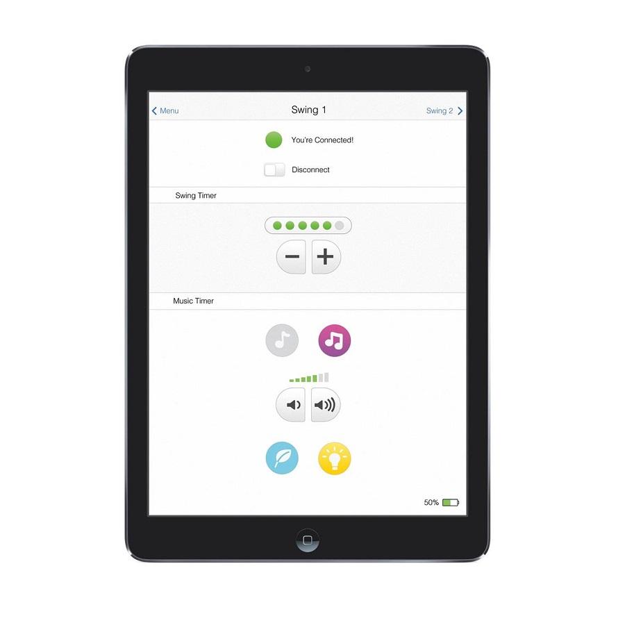 Укачивающий центр «Техно» Fisher-Price 4 в 1 Smart Connect с мобильным приложением