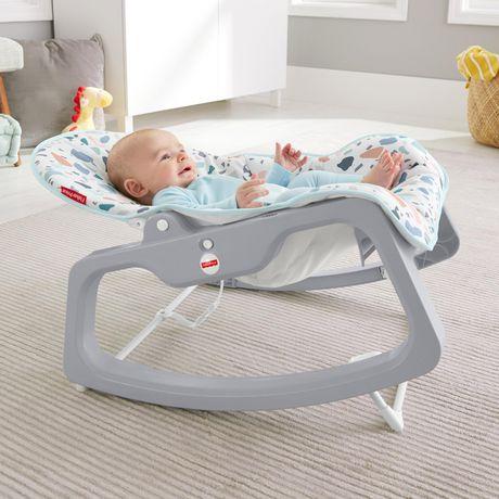 Массажное кресло-качалка Fisher-Price НЕЗАБЫВАЕМОЕ КАЧАНИЕ, детский шезлонг от 0 до 18 кг (США)