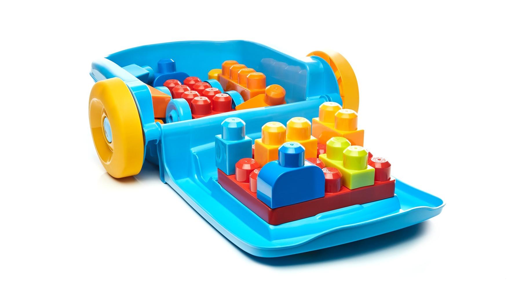 Переносной чемоданчик с конструктором (16 дет.) Mega Bloks