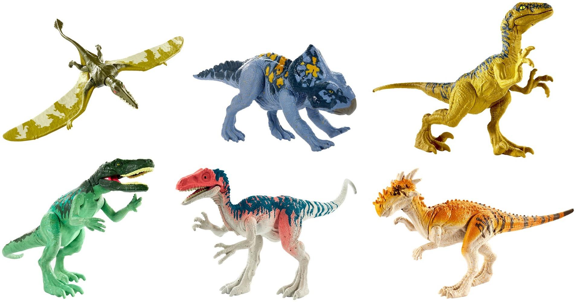 """Набор с фигуркой динозавра """"Чудовища атакуют"""" из фильма """"Мир Юрского периода 2"""" в асс.(12)"""
