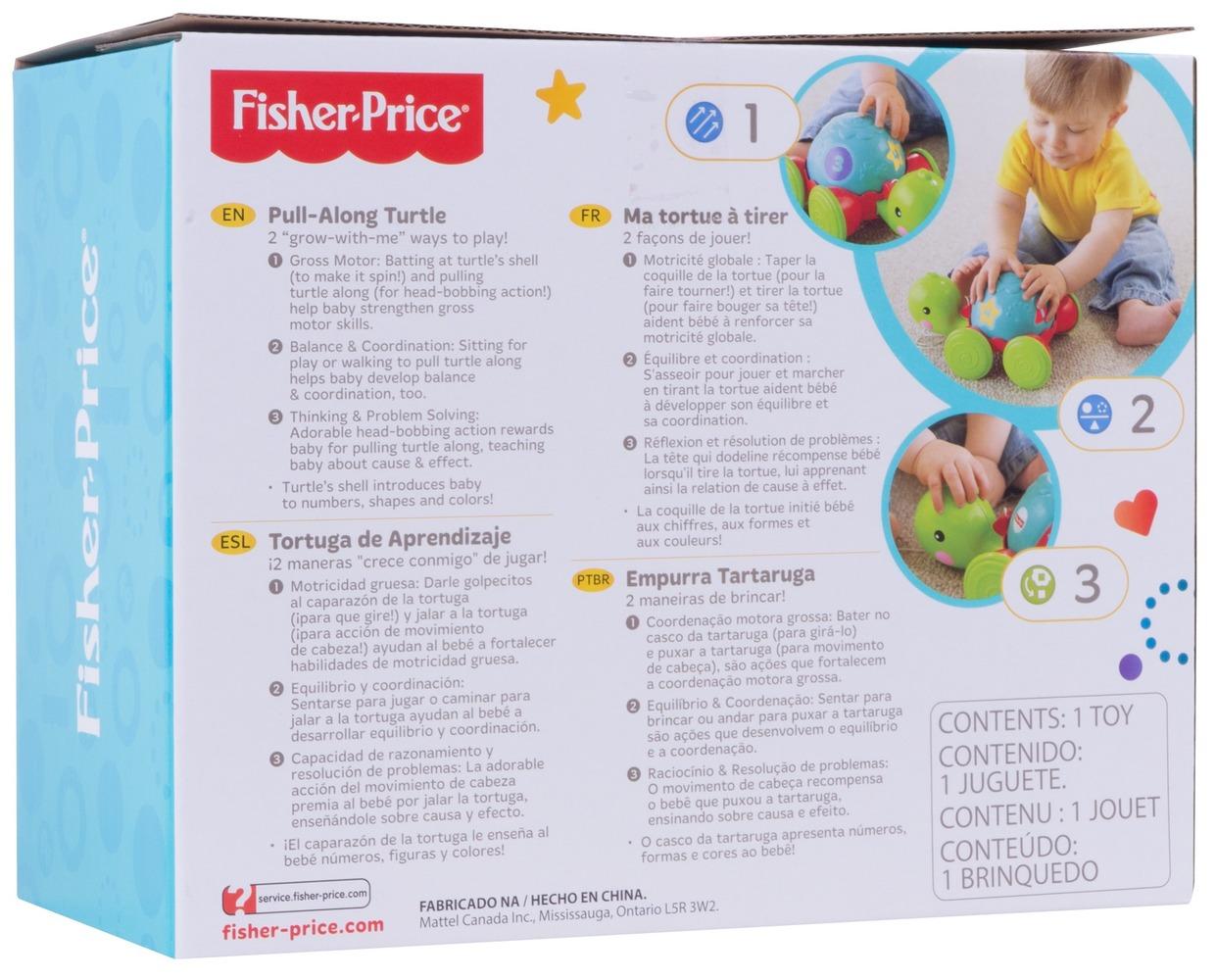 """Каталка на веревке """"Ученая черепашка"""" Fisher-Price"""