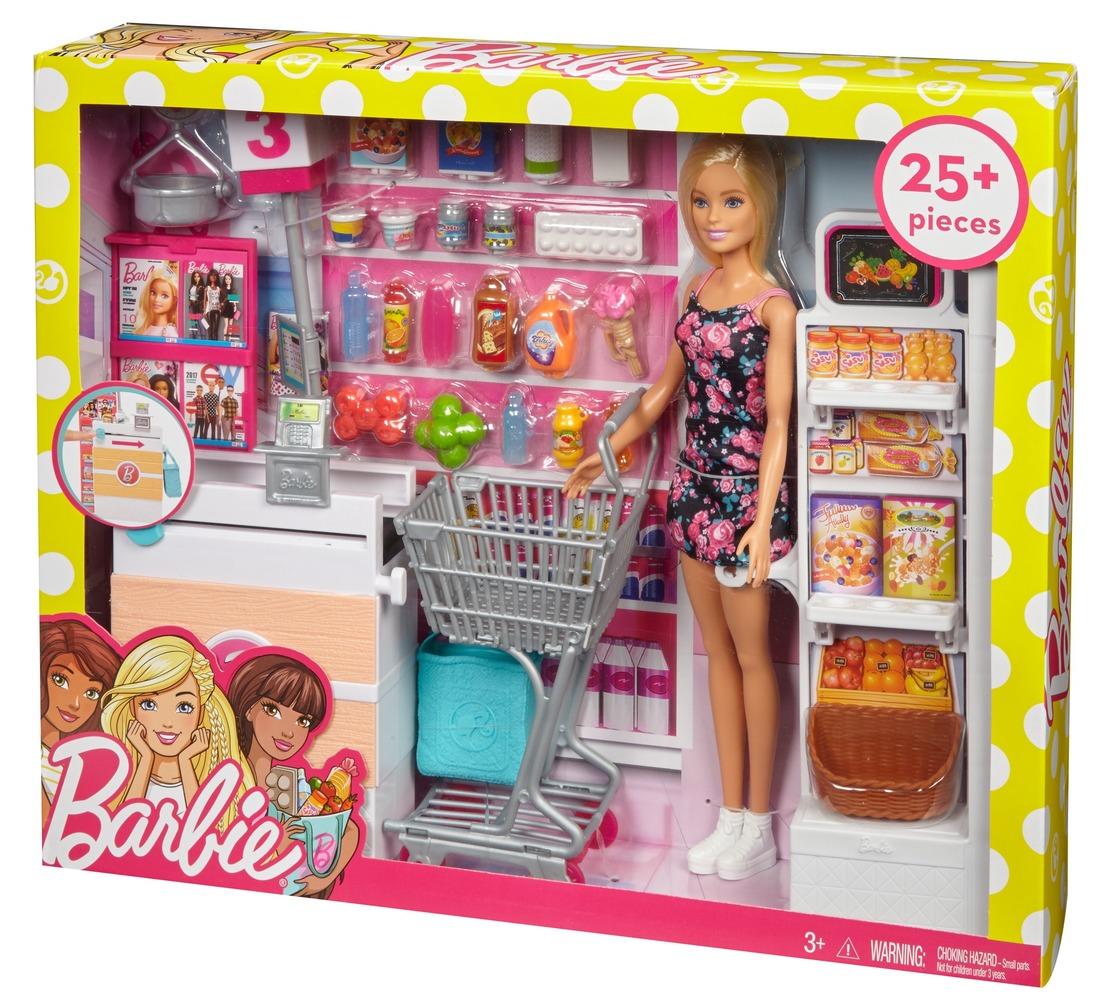 """Набор с куклой Barbie """"В супермаркете"""""""