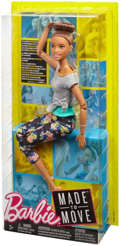 """Кукла Barbie """"Двигайся как я"""" (обновл.) шатенка"""