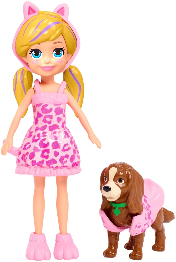 Маленькая модница с любимцем Polly Pocket