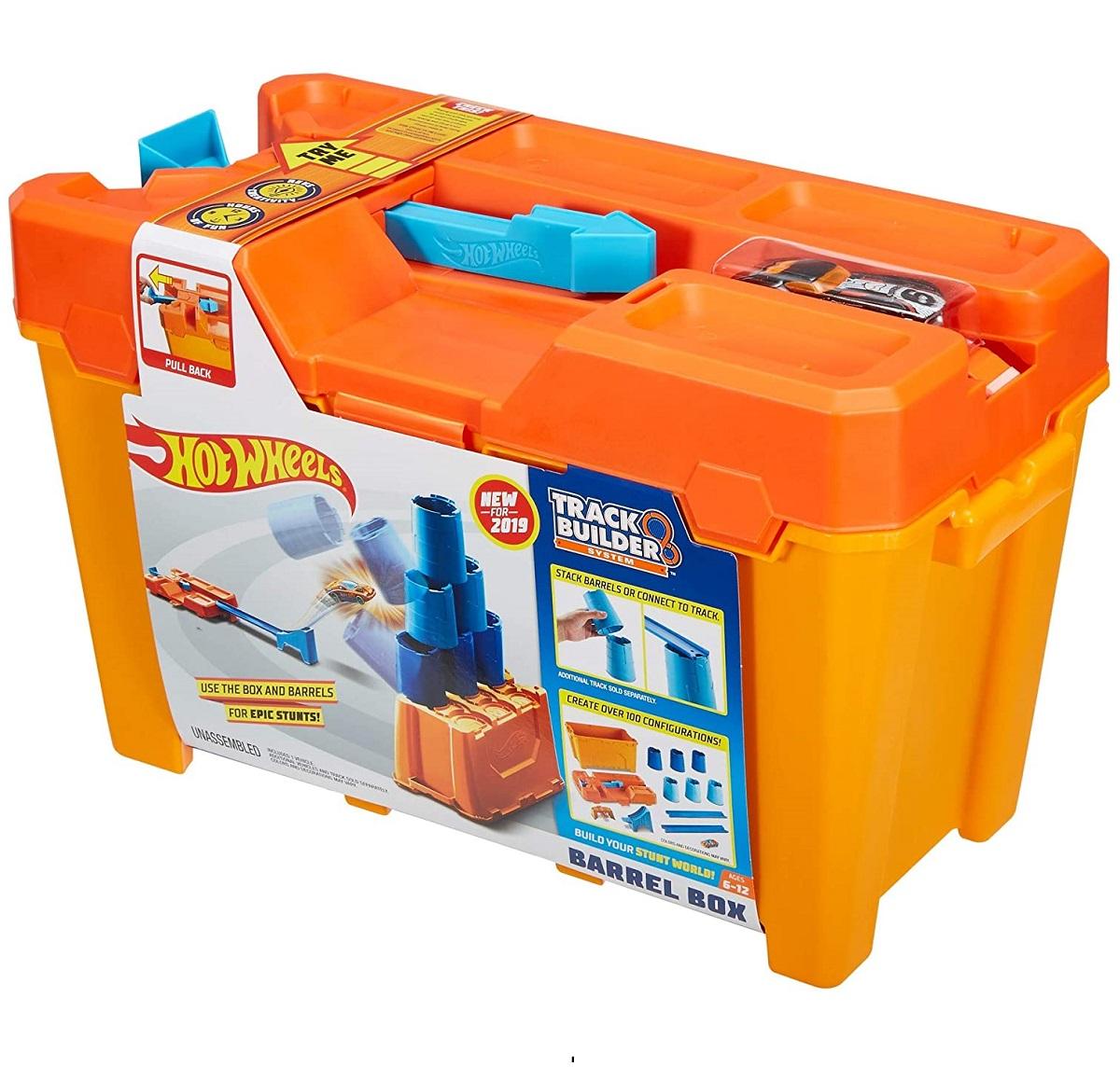Игровой набор Хот Вилс, строительная коробка Hot Wheels Ящик для трюков GCF91