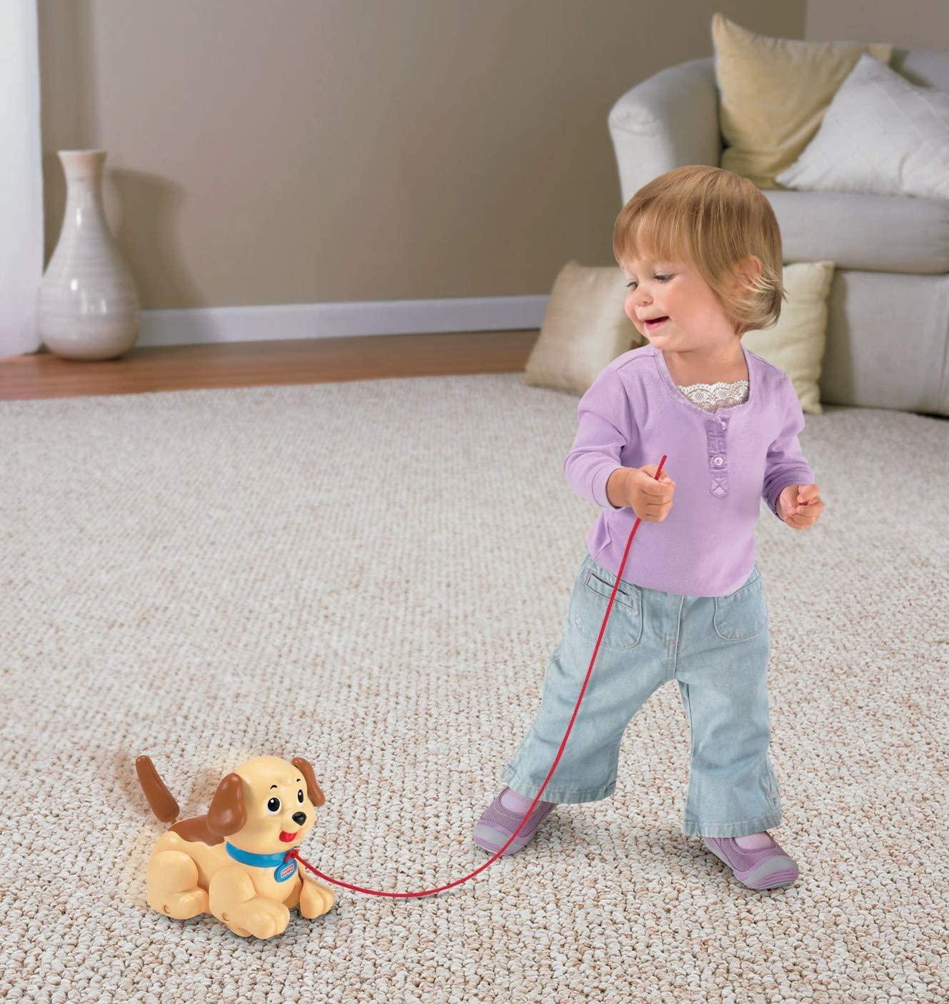 Игрушка - каталка Fisher-price собачка Маленький Снупи