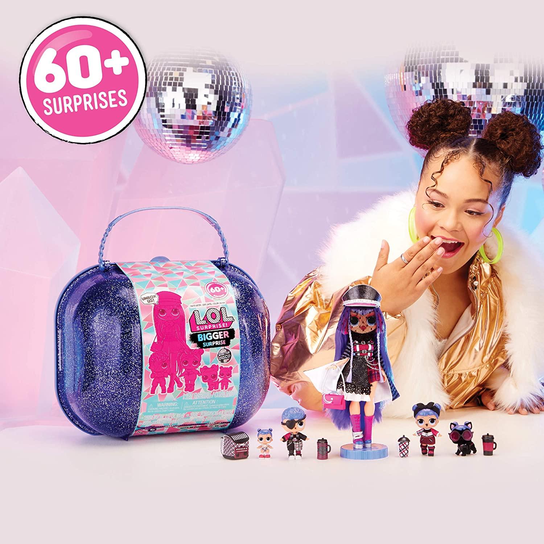 LOL OMG! Огромный чемодан Лол Винтер Диско кукла ЛОЛ ОМГ. Набор Bigger Surprise Winter Disco. Оригинал США