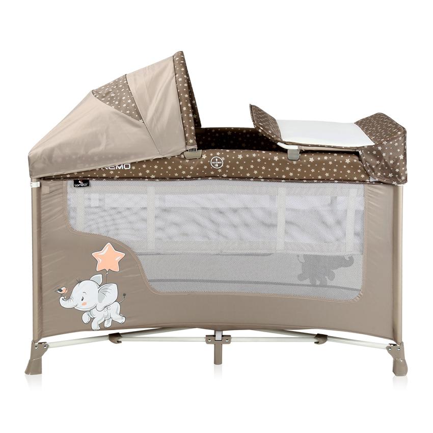 Кровать-манеж SAN REMO 2L Plus Beige Elephant