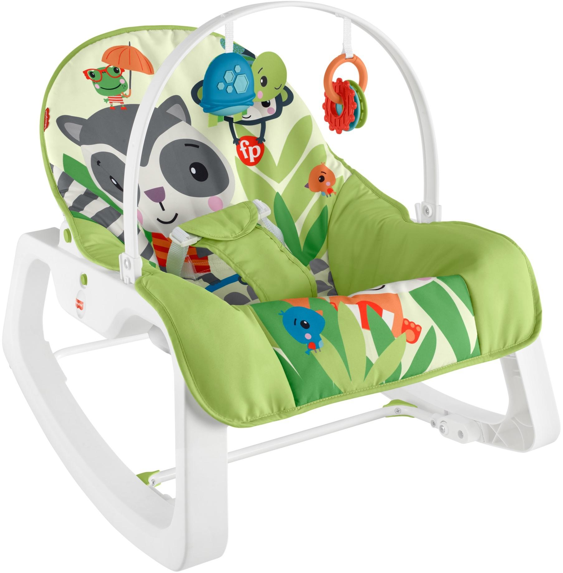 Массажное кресло-качалка Fisher-Price Сказочное качание от рождения до 3-х лет