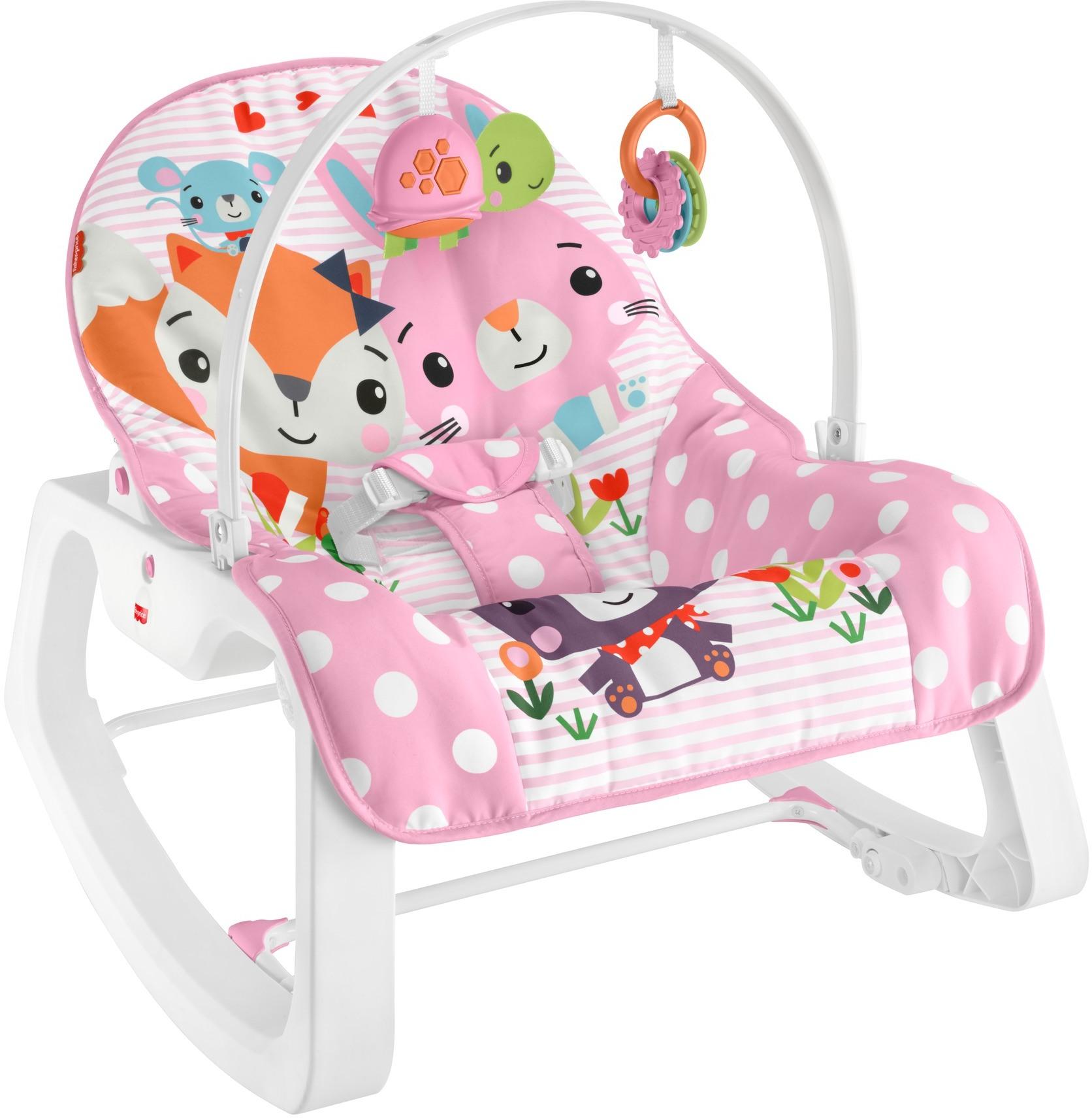 Fisher Price массажное кресло-качели Фишер прайс НЕЗАБЫВАЕМОЕ КАЧАНИЕ с лисичкой от 0 до 18 кг