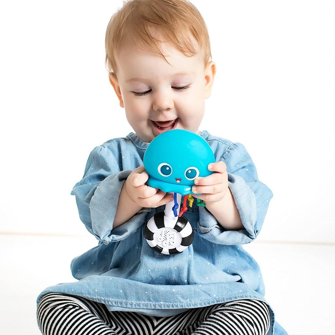Музыкальная погремушка Осьминог Baby Einstein, Sensory Shaker, 0+ Months (оригинал США)