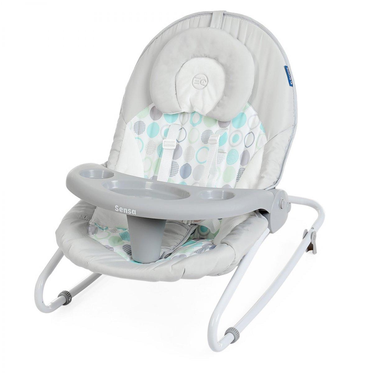Укачивающий центр 2 в 1 (напольные качели) для новорожденных EL CAMINO SENSA ME (со столиком и пультом управления)