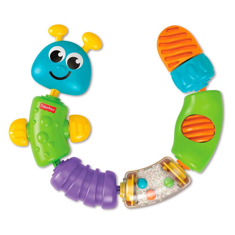 Развивающая игрушка бусы Fisher-Price Гусеница-конструктор