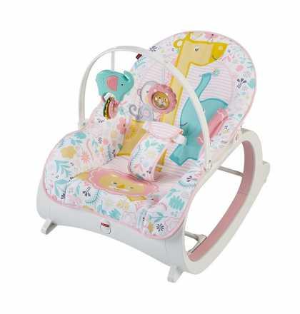 Детское кресло-качалка Fisher Price «Розовый сад» от рождения и до 3-х лет. Оригинал США