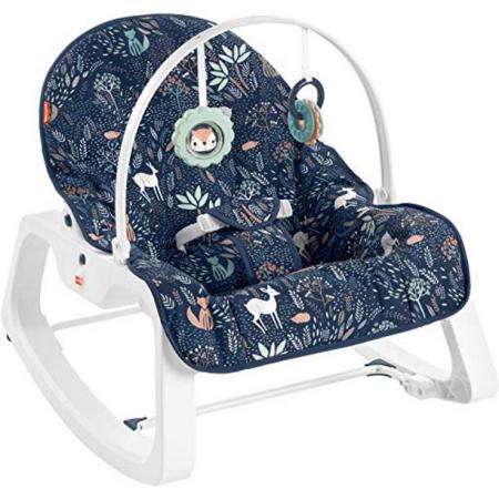 Массажное кресло-качалка Fisher-Price ЛУННЫЙ СВЕТ, детский шезлонг от 0 до 18 кг Оригинал(США)