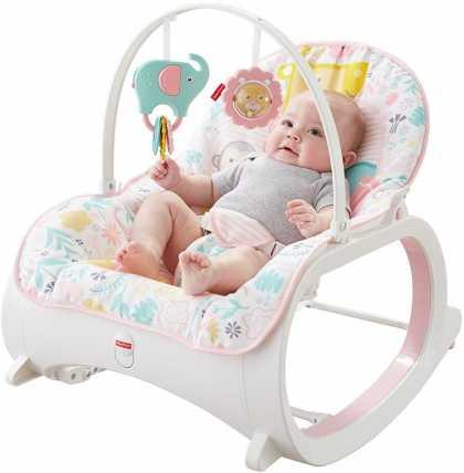 Детское кресло-качалка Fisher Price РОЗОВЫЙ САД, от рождения и до 3-х лет. Оригинал США