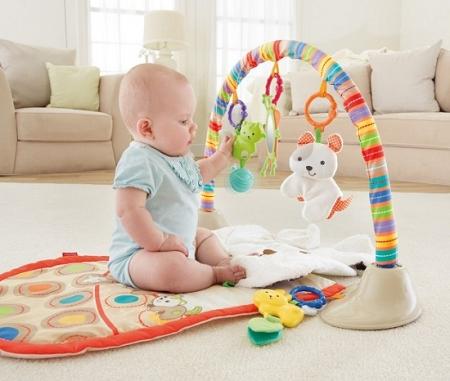 Детский развивающий коврик Мой маленький щенок Fisher-Price My Little Snuggapuppy Cuddle 'N Play Gym