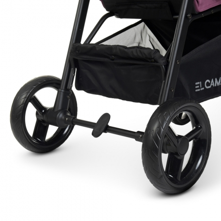 Всесезонная прогулочная коляска El Camino X4 ME 1024 Plum сливовый