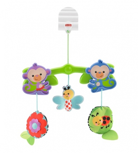 Игрушка на коляску, подвеска Друзья обезьянки Fisher-Price Stroller Toy Canopy