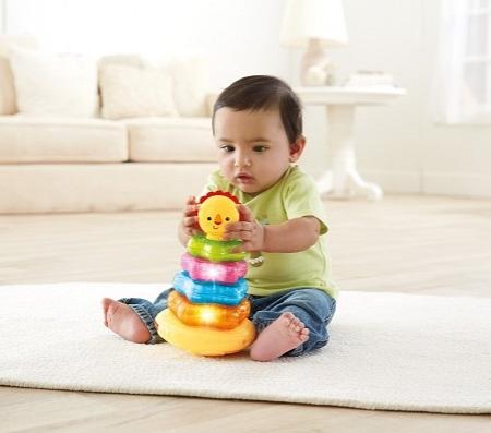Детская пирамидка Fisher-Price Львенок с музыкой и огоньками
