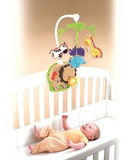 Мобиль для детей от 0 - до 2-х лет  Fisher-Price «Любимый зоопарк»