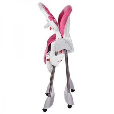 Стульчик для кормления, регулируется спинка, Bambi M 3216-2-8 розовый