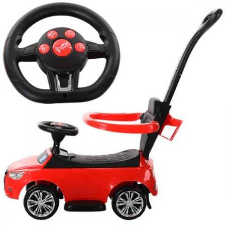 Каталка-толокар Audi 2в1 с родительской ручкой Bambi M 3503A-3 красный
