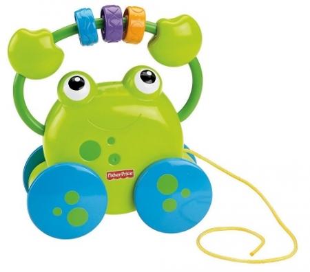 Каталка-игрушка «Лягушонок» Fisher Price Pull Along Froggie