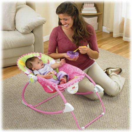 Кресло-качалка, детский шезлонг ПРИНЦЕССА МЫШЬ Fisher-Price