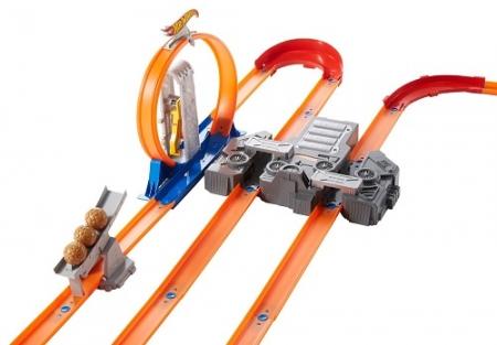 Хот Вилс Мегатрек Двойное ускорение Hot Wheels Track Builder Total Turbo Takeover Track Set