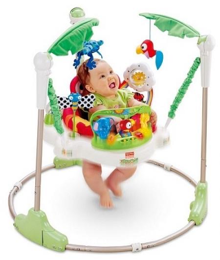 Детские прыгунки «Джунгли» Fisher-Price Rainforest Jumperoo