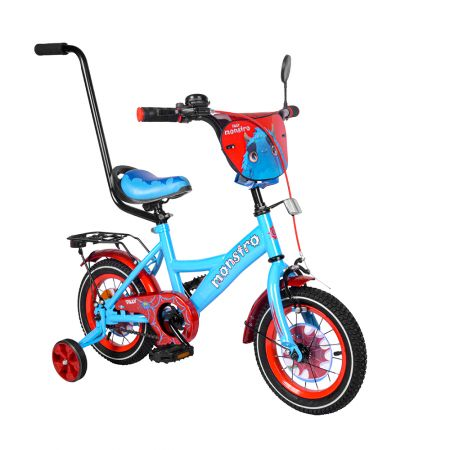 """Велосипед TILLY Monstro 12"""" T-21228/1 blue+red /1/"""