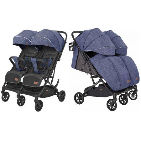 Коляска прогулочная CARRELLO Presto Duo CRL-5506 Oxford Blue +дождевик /1/ MOQ