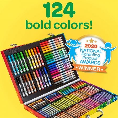 Большой набор Крайола чемодан Crayola Art Case 140 предметов