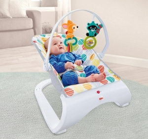 Детское кресло шезлонг  баунсер Fisher-Price ПЕРВЫЕ ДРУЗЬЯ (Comfort Bouncer)