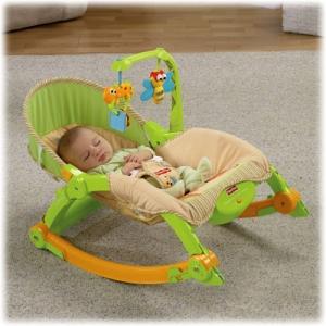 Детское  кресло-качалка Fisher Price «Лягушонок» массажное Infant-to-Toddler Rocker (люкс-класс)