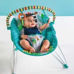Детский шезлонг -качалка ЗЕБРА Bright Starts zig zag zebra vibrating bouncer