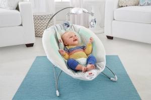 Массажный шезлонг для новорожденного КРОШКА ЕНОТ Fisher-Price Deluxe Bouncer