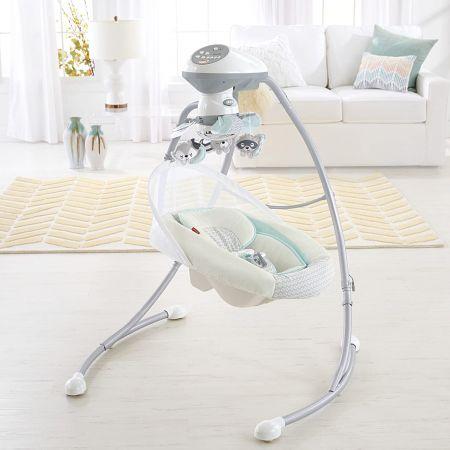 Детский укачивающий центр Fisher-Price «Мой маленький енотик» колыбель-качели для новорожденых
