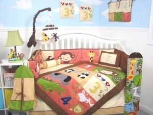 Постельный набор для детской кровати 12 предметов Джунгли SoHo Designs США