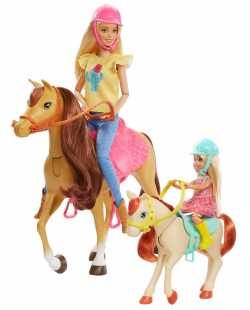 """Набор Barbie """"Верховая езда и объятия"""""""