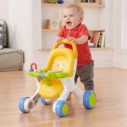 Игрушечная коляска ходунки-каталка Fisher-Price Stroll & Learn Walker, Yellow