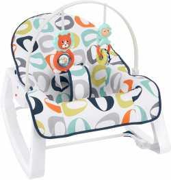Кресло-качалка Fisher-Price Росток, детский массажный шезлонг от 0 до 18 кг