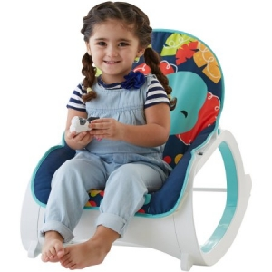 Кресло качалка  Fisher Price с массажем НОЧНОЙ ЛЕС  для детей от 0 до 18 кг