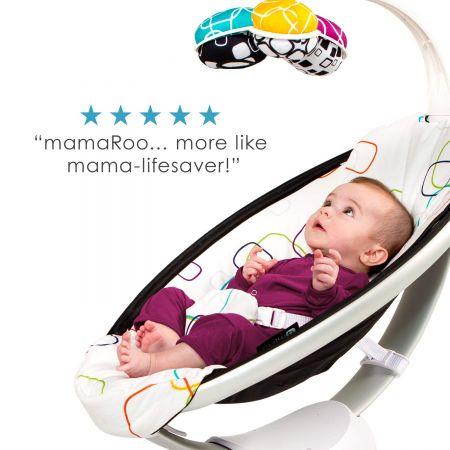 Электронные качели мамаРу 4moms укачивающий центр mamaRoo 4 Bluetooth-Enabled high-tech Silver plush. Модель 2020