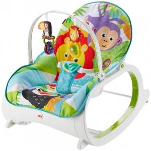 Массажное кресло-качалка Fisher Price «Тропический лес» от рождения и до 3-х лет. Оригинал США